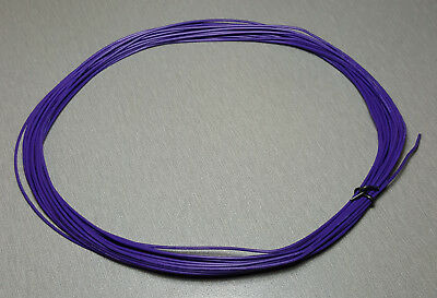 10 Metres PURPLE UL-1007 Hookup Wire 24AWG 1.4mm PVC insulator