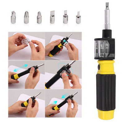 360 Bit 6-in-1 Twist Flexible Screwdriver Precision Repair Hand Tool Screw A set