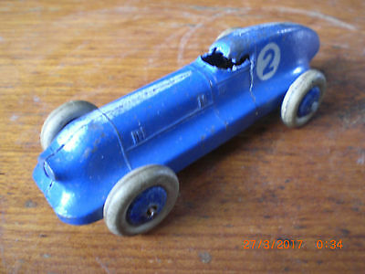 Dinky pre war hotchkiss 23b blue and silver no.2  in original condition