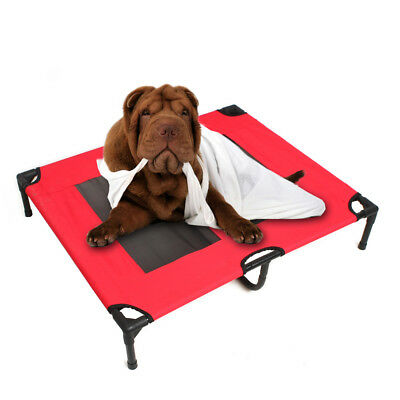 Size L Heavy Duty Pet Dog Bed Trampoline Hammock Canvas Cat Puppy Cover AU Stock