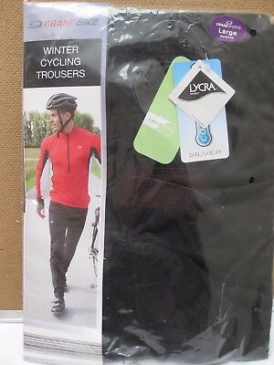 Crane Winter Cycling  Bike Trousers L windproof water repellent breathable lycra