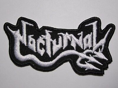 NOCTURNAL logo embroidered NEW patch black thrash metal