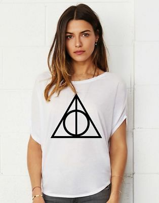 58c3ca73 Deathly Hallows Harry Potter Lady Tunic Cotton Touch Loose Fit T-shirt Cool  Tee