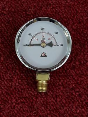 Dropsa Lubrication 63mm Pressure Gauge 0-400BAR