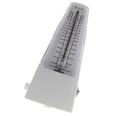 White Traditional Tempo Precision Mechanical Metronome Music Learning Parts