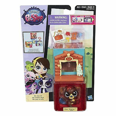 Littlest Pet Shop Mini Style Set with #4025 ALDER WATERLEY Beaver Figure