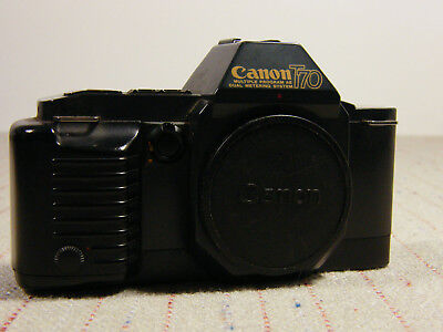 Vintage Canon T-70 35mm SLR Film Camera Body Only A615