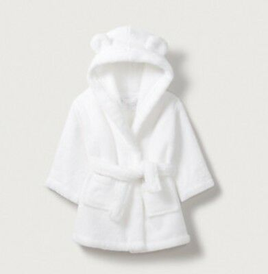 The White Company hydrocotton baby robe dressing gown with ears 6-12 months