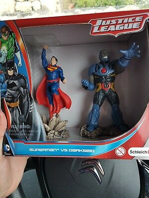 Schleich Justice League Superman Vs Darkseid Figures NEW