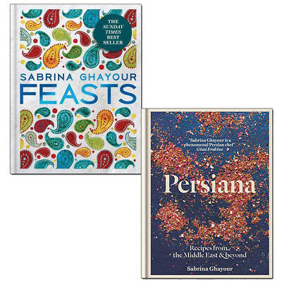 Sabrina Ghayour Feasts and Persiana Recipes 2 books collection set pack NEW
