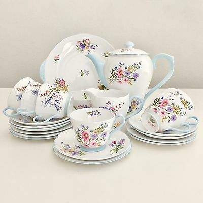 Shelley Wild Flowers full tea or coffee service for 6