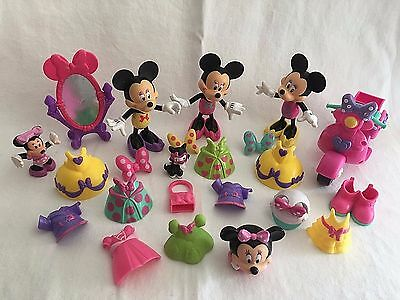 Disney 3 Snap N' Style Dolls & Accessories 28 pc Minnie Mouse Bow-Tique Scooter
