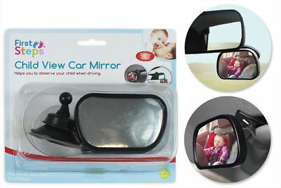 Child View Car Mirror Baby Shatterproof Fully Adjustable Anti-Wobble Safety