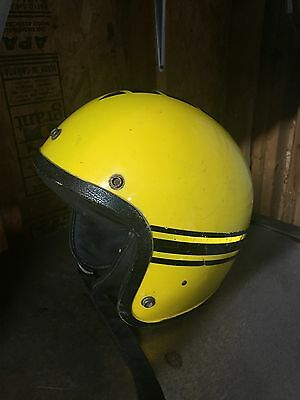 Vintage Yellow John Deere Helmet Unique Collectible