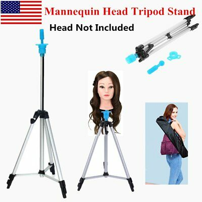 Hairdressing Adjustable Tripod Stand Salon Training Head Hair Wig Stand Holder S