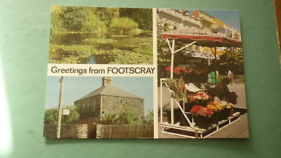 OLD AUSTRALIAN POSTCARD 1980s GREETINGS FROM FOOTSCRAY VICTORIA