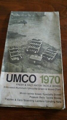 Umco 1970 freshwater saltwater tackle boxes possum belly tackle boxes
