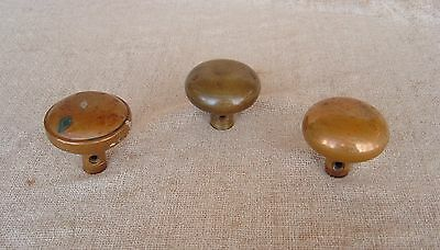 Vintage 1905 Brass Door Knobs Architectural Salvage Cane Toppers Free Shipping