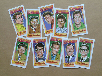 Rock 'n' Roll Greats. A Set Of 10 Collectable Cards