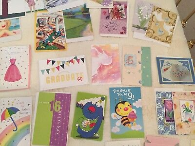 Mixed Lot of 75 Greeting Cards with envelopes Varied designs, New