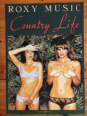 Roxy Music,country Life,rare  Authentic Licensed 2003 Poster