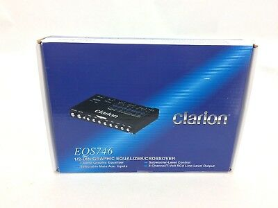 Clarion EQS746 1/2-DIN Graphic Equalizer/Crossover