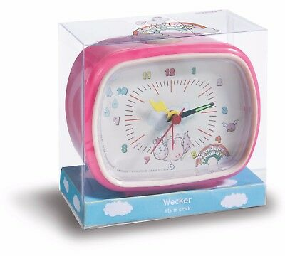Nici Einhorn Theodor and friends Uhr Wecker pink bunt