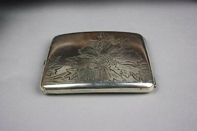 19th/20th C. Chinese Marked 950 Silver Name Card Box