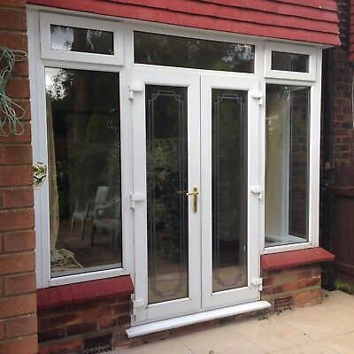 External upvc french patio doors with side windows and top for External french doors and frame