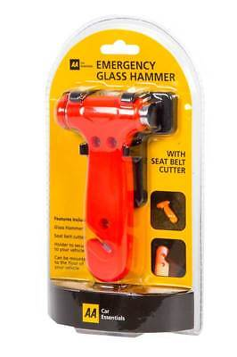 Aa Emergency Glass Hammer 2 In 1 Seat Belt Cutter Included Stay Safe!