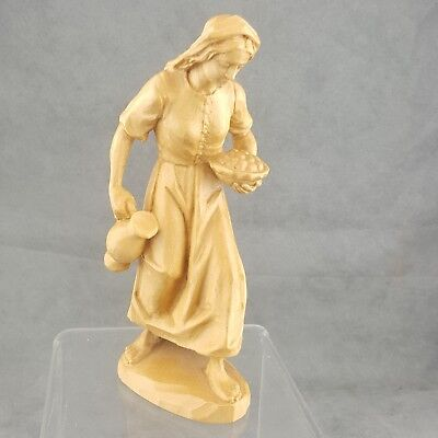 Carved wood Figurine Statue Woman