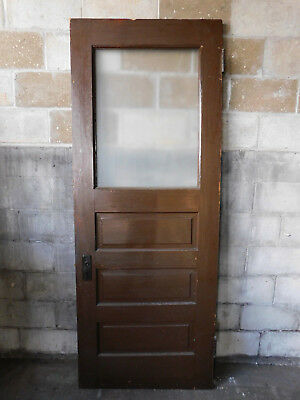 Antique Craftsman Style Entry Door - 1905 Three Panel Fir Architectural Salvage