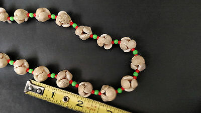 women's hawaiian necklace beige round small shell 34 inch  ethnic culatures lei