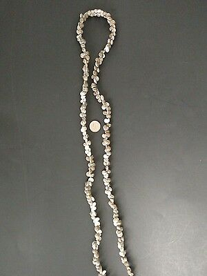 Hawaiin small grey shell necklace 34 inches ethnic