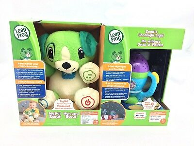 """Leap Frog """"My Pal Scout"""" w/ Goodnight Light Interactive Plush - FRENCH Version"""
