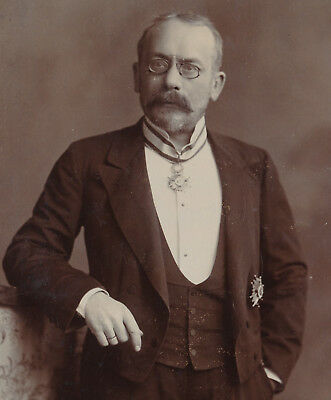 Order of Isabella the Catholic (2nd class) Hungarian philosopher prof. photo1901