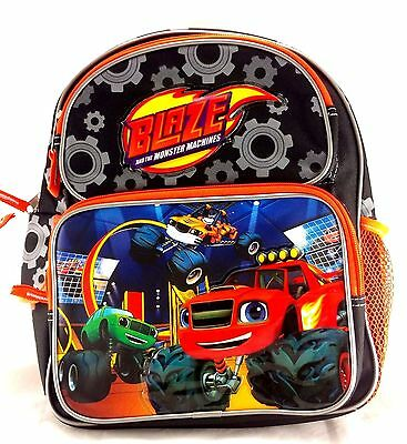 "Blaze And The Monster Machines Blazing Speed Boys 12"" Orange School Backpack"