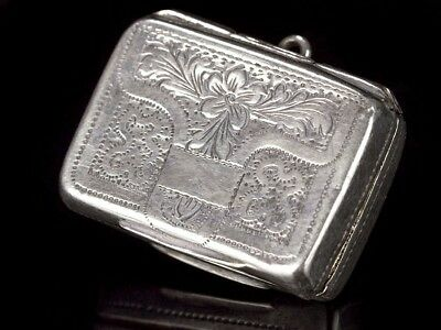 Ladies Silver Vinaigrette 1843 by John Bettridge, Birmingham