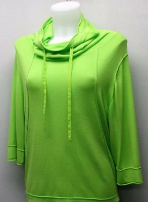 Ladies SMALL Spanner 3/4 sleeve golf sweater Palm green
