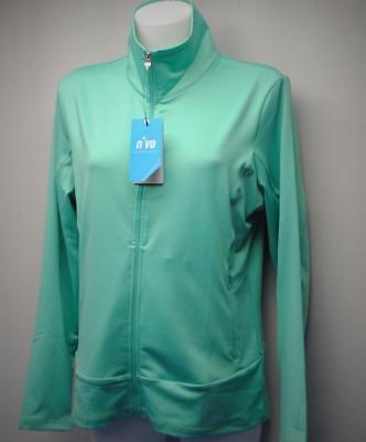 New Ladies LARGE NiVO  polyester/spandex long sleeve golf top Aqua green