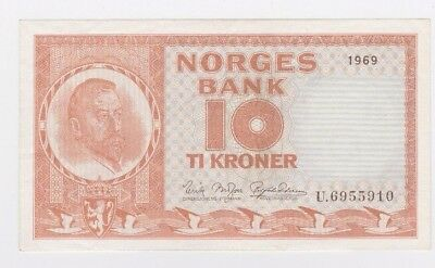 Norway - Norges Bank - Post Ww Ii 1948-1955 Issue 10 Kroner P31