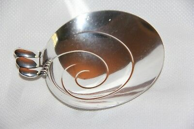 Tiffany Modern Form Shell-Shaped Sterling Silver Dish - NR
