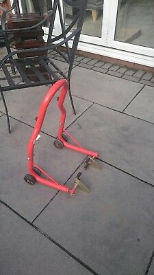 motorcycle front paddock stand