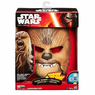 New Star Wars The Force Awakens Chewbacca Electronic Talking Mask  Intl Ship!