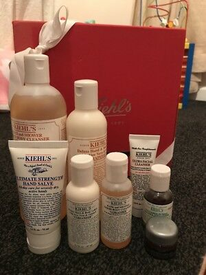 Kiehl's Gift Set Bath & Shower Cleanser, Hand & Body Lotion & Facial Care