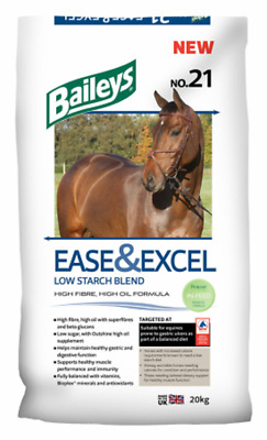 Baileys No 21 Ease & Excel 20Kg-idealfor horse prone to ulcers low starch