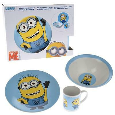 Despicable Me minions Children's 3 Piece Ceramic Breakfast Set