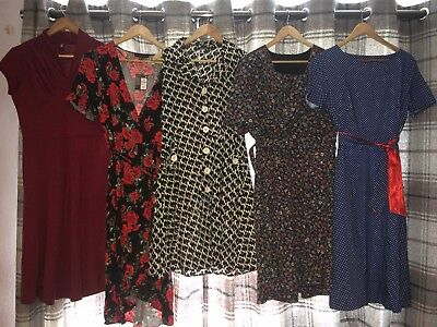 Ladies Vintage Style Dress Bundle 5 Items  Size 12