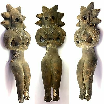 Ancient Teracotta Mother Goddess Torso Indus Valley 600 BC #SH499
