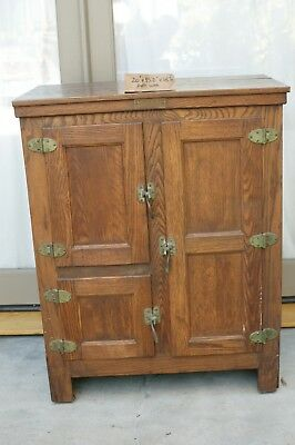 Antique Oak McCray Grocers Ice box early 1900's good condition , not tampered